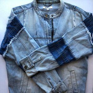 William Rast Patchwork Denim Jacket